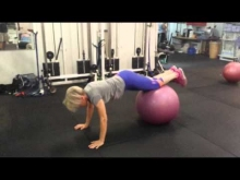 Embedded thumbnail for Swiss Ball Plank/Skiers